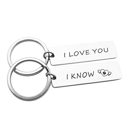 Huiuy Couples Keychain I Love You I Know Keychain Set Star Wars Gift for Couples Boyfriend Girlfriend