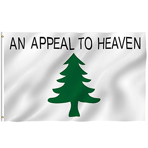 AIUSD Clearance , 3x5Ft An Appeal To Heaven Flag Grommets Indoor Outdoor Polyester Banner