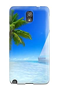 Awesome Defender Tpu Hard Case Cover For Galaxy Note 3- Great Tropical Beach 8146580K35509907