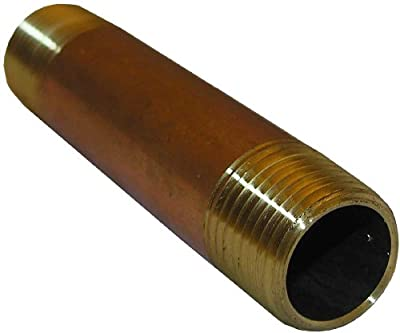 LASCO 17-9457 1/2-Inch by 5-Inch Red Brass Pipe Nipple