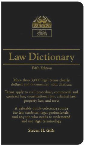 Law Dictionary (Barron's Legal Guides)