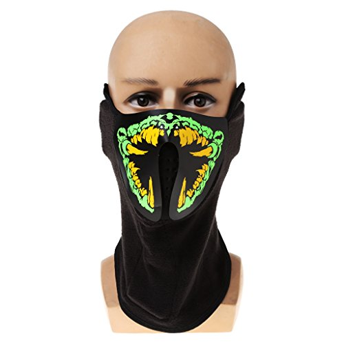 Shoresu Mask Luminous Skull Mask Maske Masque Horreur Halloween Decoration Craft Supplies - 06# -