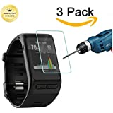 Kimilar Garmin vivoactive HR Tempered Glass Screen Protector, 3-Packs Premium HD Clear Film Ultra High Definition Invisible and Anti-Bubble Crystal Shield