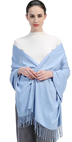 Premium Women Extreme Soft Scarf Wrap Shawl For Autumn Winter and Spring (Pale Blue)