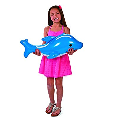 Large Under The Sea Inflatables (6 pieces) Party Favors and Decor, Includes a Whale, Dolphin, Octopus, Shark, Rainbow Fish, and Sea Horse: Toys & Games