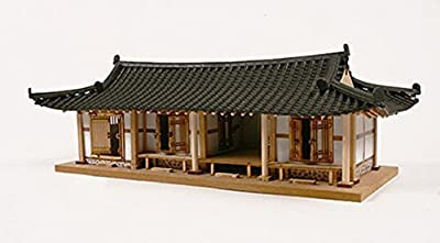 Young Modeler Education Series Wooden Model Kit_1/40 Miniature,Korea Traditional Tile-roofed Houses(4-Compartments)(YM505) by Young Modeler
