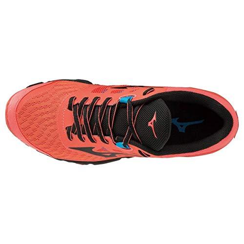 Hot Running Wave black De Zapatillas Ibuki Para Coral Asfalto Hombre Mizuno n8dqIAq