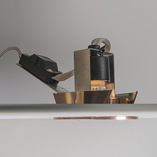 QAZQA Moderne Set de 10 spots /à encastrer//encastrables Cisco cuivre mat Aluminium Rond//Luminaire//Lumiere///Éclairage//int/érieur//Salon//Cuisine