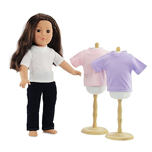 18 Inch Doll Clothes Skinny Jeans and White T-shirt Basics Outfit | 4 Pieces! Fits 18
