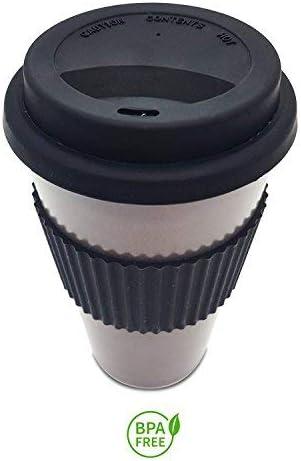 Taza de café de bambú reutilizable, ecológica, 450 ml, taza con ...