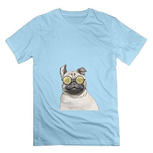 With Glasses Pug Men Crew Neck Clothes Unisex Shirts Short Sleeve - Limited Edition Avengers Glasses 3d
