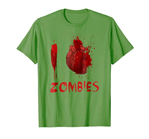 I Love Heart Zombies Halloween T-Shirt Costume Gift for $<!--$14.99-->