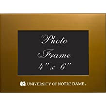 University of Notre Dame - 4x6 Brushed Metal Picture Frame - Gold