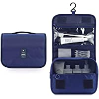 Hanging Toiletry Bag, Multifunction Travel Organizer For Men & Women, Simplicity and Stylish Waterproof Cosmetic pouch (Navy Blue)by Cloudin.