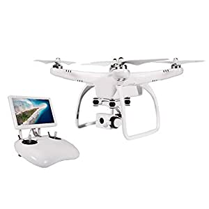 UPair One Drone with Camera Gimbal Live Video 2.7K HD 7 inch FPV Monitor Screen GPS Quadcopter, Auto Return to Home Function, Aerial Photography Beginner Drone