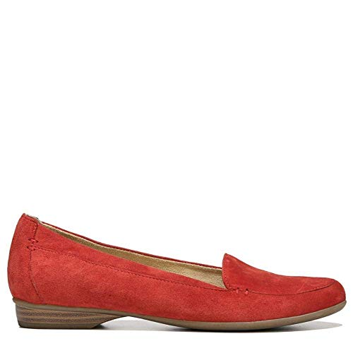 Naturalizer Women's Saban Hbiscusred/Suede M, Hbiscusred/Suede, Size 8.0 - Suede Loafers Naturalizer