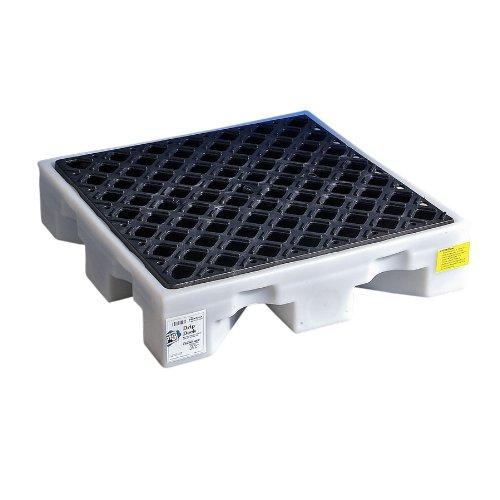 new-pig-pak527-ldpe-drip-deck-1500-lbs-load-capacity-26-length-x-26-width-x-5-3-4-height-white-black