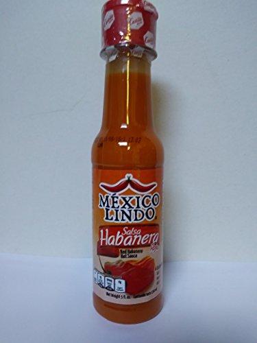 MEXICO LINDO RED HABANERO SAUCE (Salsa Habanera Roja) 5 fl. oz. (150ml)