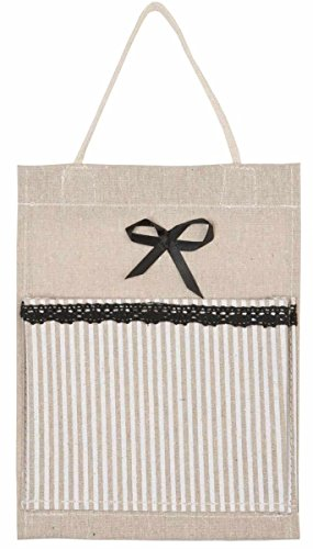 Clayre & Eef 62493 borsa tessuto sacchetto Tessuto borsa a strisce ca, 18 x 24 cm sacchetto