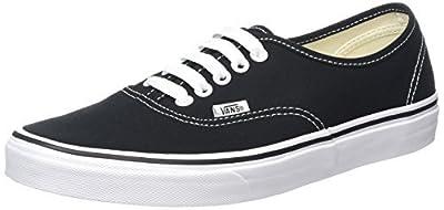 Vans Unisex Skate Shoe (36 M EU / 4.5 D(M) US, Black) (Black/White, 11 B(M) US Women / 9.5 D(M) US Men)