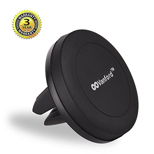 Vanford – Universal Air Vent Magnetic Phone Holder for Car, Magnet Car Mount for Smartphones Cell Phones and GPS Navigator
