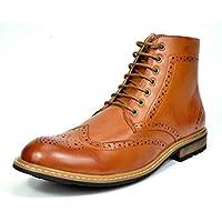 Bruno Marc bergen-01Formal Del Hombre Clásico wing-tip forro de piel. Diseño Perforado Tall botas de tobillo Oxford