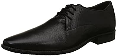Ruosh Black Formal Shoes For Men, 41 EU