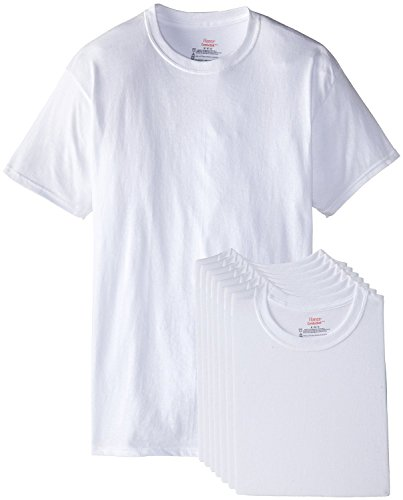 Hanes Men's 6-Pack Plus 2 Free Crew T-Shirts, White, ()