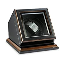"""Top Quality Automatic Single BlackWood Watch Winder Brand by Bombay Dimensions 5.75""""H x 7.25""""W x 6""""D"""