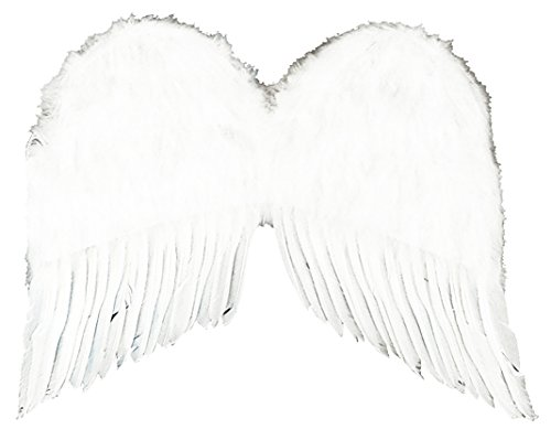 Forum Novelties Women's 22-Inch Feather Costume Wings, White, One Size -