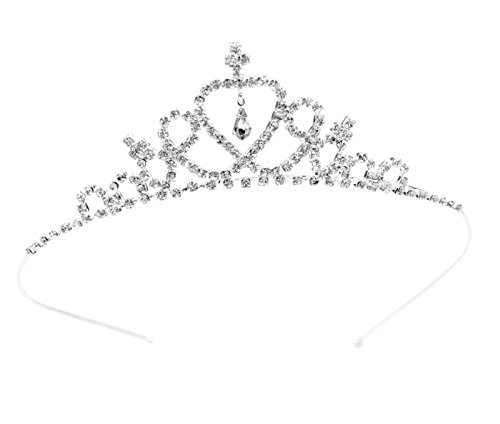 Kids Sweet Crystal Tiara Crown for Flower Girls Bridesmaid