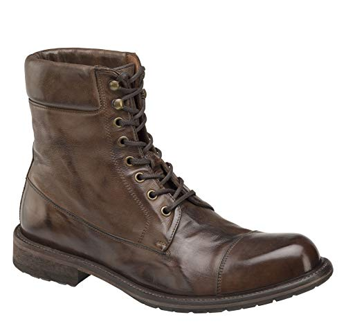 Johnston & Murphy Men's Lofting Cap-Toe Boot Dark Tan Dip-Dyed Italian Calfskin 10.5 M US ()