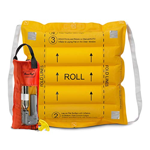 - ThrowRaft TD2401 Type IV Inflatable Throwable PFD Flotation Device, USCG Approved