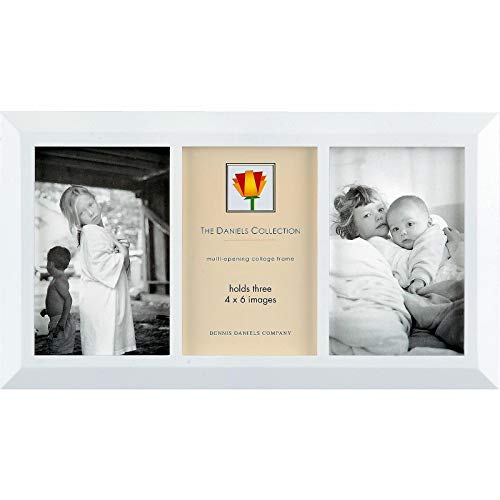(Display a photo story in a triple white wood windowpane style by Dennis Daniels® - 4x6)
