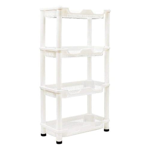 Macallen Shower Caddy Corner Rust Proof White Shelf Kitchen Bathroom Storage Unit 4 Tier