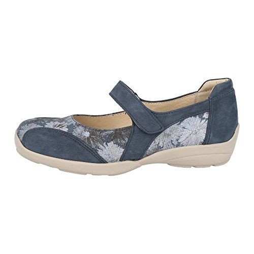 DB Easy B Womens Misty Strap Over Shoes 78579N EE-4E (2V) Navy/Floral itTrWJGnoT