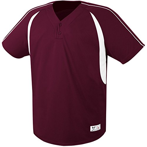High Five Impact Two-Button Jersey 3XL Maroon/White ()