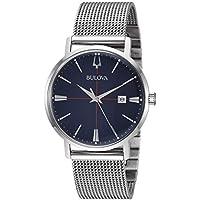 Bulova Men's Quartz Stainless Steel Dress Watch, Color:Silver-Toned (Model: 96B289)