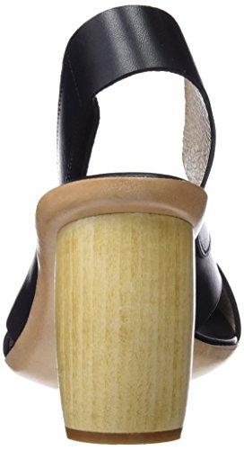 Neosens Damen S628 Restaurato Pelle Ebano / Mulata Peeptoe Sandalen Schwarz (ebano)