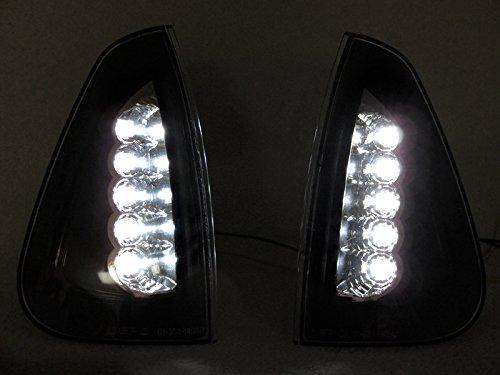 Black Trim//Clear Lens White LED Corner Signal Lights By DEPO Fit 2006-2010 Dodge Charger