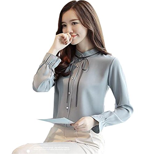ボタン倉庫評議会SHUOSENレディースシャツ カジュアル 素晴らしい 純色 パッチポケット 長袖 大きい サイズ 通勤 シャツ