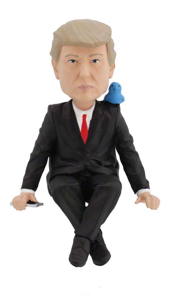 Royal Bobbles Donald Trump Media Monitor Bobblehead (Computer Sitter)