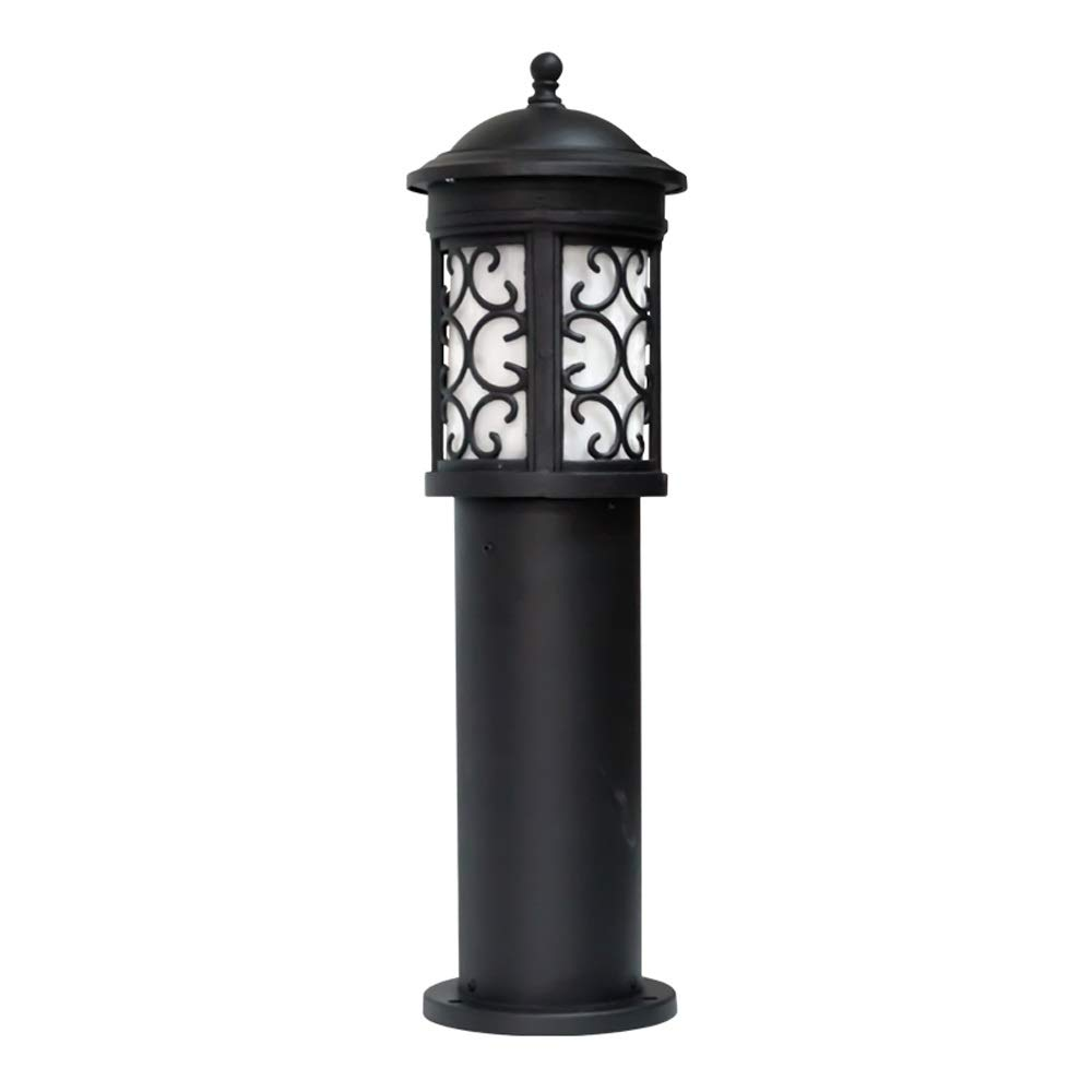 Magosca IP54 Waterproof Outdoor E27 Street Light European Minimalist Retro Aluminum Pc Lampshade Rustproof Column Lamp Vintage Community Villa Courtyard Decoration Lighting Path Post Light
