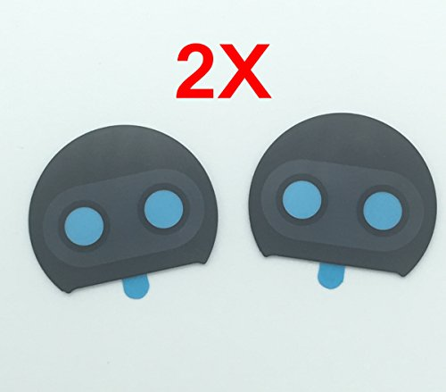 By Walking Slow-2 Piece Back Camera Glass Lens Cover Replacement Parts with Adhesive for Motorola Moto G5S Plus XT1806 with adhesive in 100% Real Glass