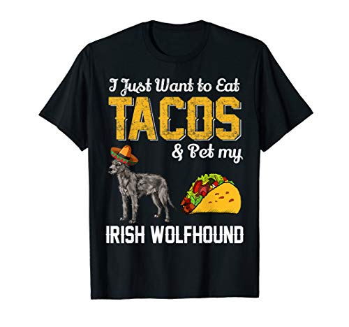 (Taco Shirt - Funny Mexican Irish Wolfhound Dog Taco Food)