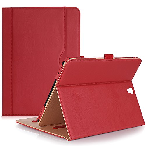 ProCase Samsung Galaxy Tab S3 9.7 Case, Stand Folio Case Cover for Galaxy Tab S3 Tablet (9.7 Inch, SM-T820 T825), with Multiple Viewing Angles, Document Card Pocket - Red