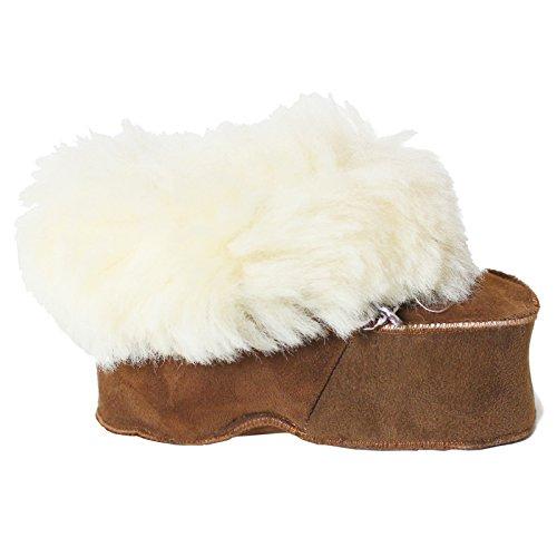 Brubaker - Patucos para niña, color marrón, talla 12-18 Mo.