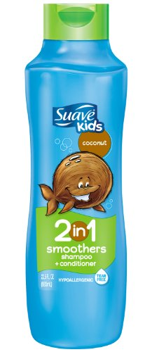 Suave Kids 2 in 1 Shampoo and Conditioner, Cowabunga Coconut, 22.5 (Hair Smoothers 2in 1 Shampoo)