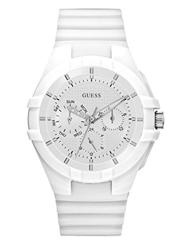 GUESS Women's Silicone Casual Watch, Color: White (Model: U0942L1)