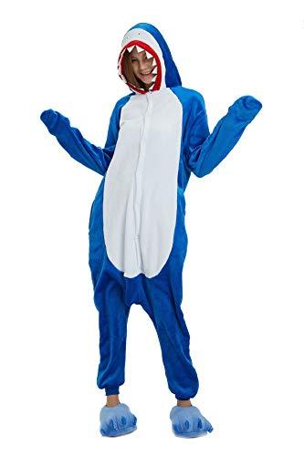 heekpek Pigiama Anime Cosplay Halloween Costume Cosplay Attrezzatura Costume di Carnevale Halloween Pigiama Adulti, Squalo, Ippopotamo, Drago Volante Squalo